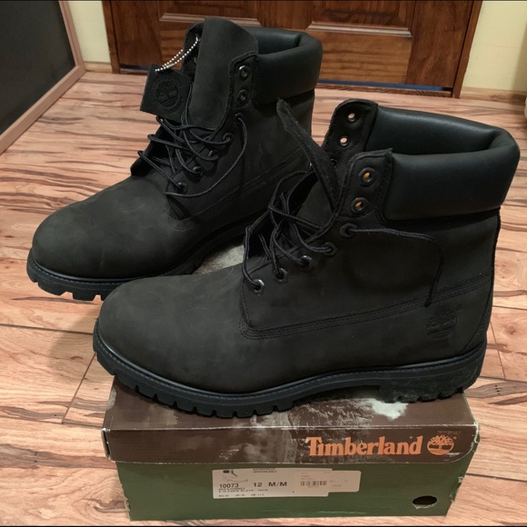 Timberland Boots Men's Black NWT